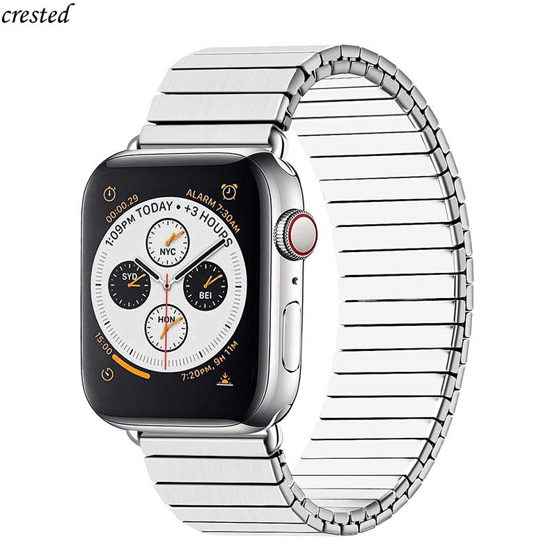 Stainless Steel Band For Apple Watch Strap 44mm 40mm IWatch Band 42mm 38mm Elastic Watchband Metal Bracelet Apple Watch 5 4 3 2