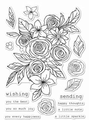 FLOWERTransparent Clear Silicone Stamp/Seal For DIY Scrapbooking/photo Album Decorative Clear Stamp A5101