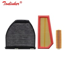 Cabin Filter Air Filter+Oil Filter 3 Pcs For Mercedes E CLASS W212 S212 A207 C207 2010 2019 Model Built and External Fiilter Set
