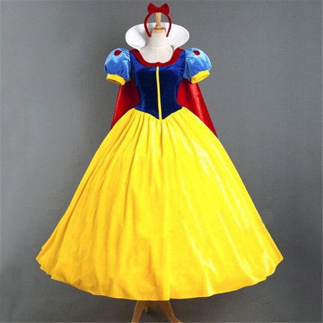 Adulte Cosplay robe blanche neige fille princesse robe femmes adulte dessin animé princesse blanche neige Halloween fête Costume