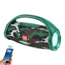 Наружный bluetooth динамик портативный светодиодный фонарик