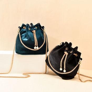 Luxury Velvet Large Capacity Bucket Bag 2
