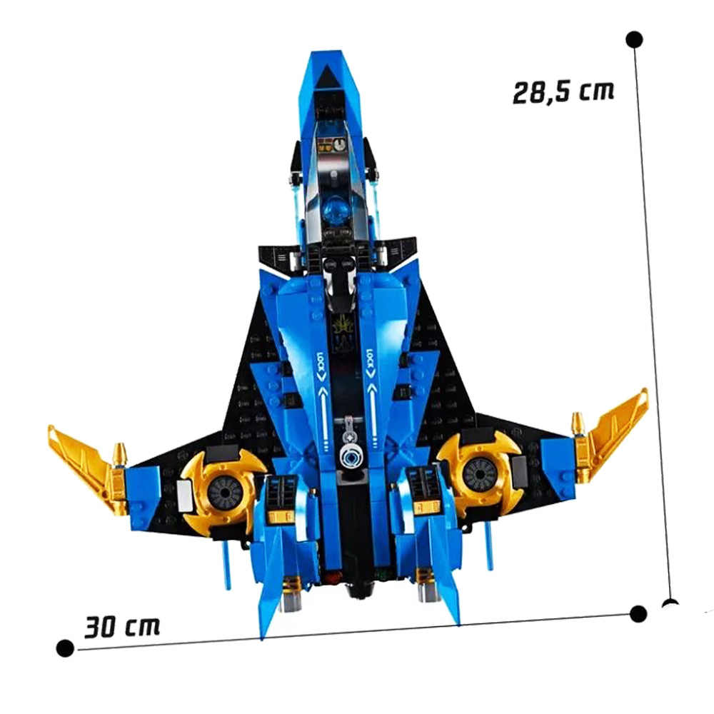 2019 Новинка 549 шт Ninja Jay's Storm Fighter совместимый с legoingery Ninjagoed 70668 строительные блоки игрушки Фигурки для детей подарок