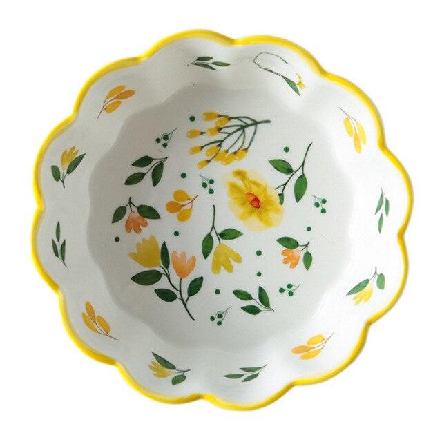Купить японский стиль ручная роспись керамический милый фруктовый салатник картинки цена