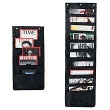 120 см/70 журналов органайзер для файлов подвесные сумки для хранения карманов+ Крючки книжки из ткани папка настенная дверь для офиса школы дома