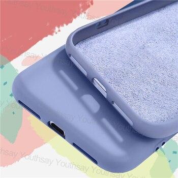 Перейти на Алиэкспресс и купить Жидкий силиконовый чехол для Xiaomi Redmi 9A, чехол для Xiaomi Redmi 9 9C Note 9 9S 8 Pro, противоударный оригинальный мягкий бампер для телефона