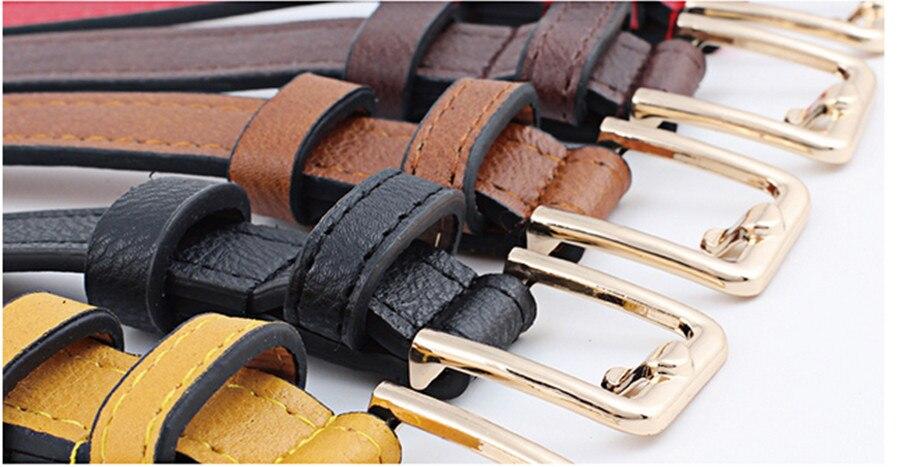 Women Belt Fashion Hollow Decoration Women Leather Belt Solid Color Casual Retro Pin Buckle Women Cowboy Belt