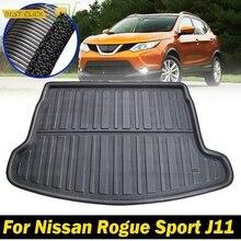 Wkładka pod ładunek samochodowy mata bagażnika podkładka podłogowa bagaż dywan dla Nissan Rogue Sport J11 2017 2018 2019 akcesoria