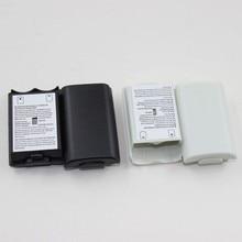 100 pcs 흑백 옵션 플라스틱 배터리 팩 배터리 커버 케이스 교체 Xbox 360 수리 부품