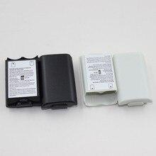 100 pièces noir et blanc en option en plastique batterie Pack batterie housse de remplacement pour Xbox 360 pièces de réparation