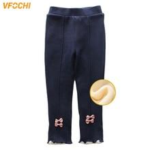 цена VFOCHI New Girls Pencil Pants Winter Thick Velvet Pants Stretch Waist Kids Pants Warm Children Trousers Baby Girls Thicken Pants онлайн в 2017 году