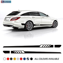 цена на Edition 1 Door Side Stripes Skirt Sticker Decal For Mercedes Benz CLS Class W219 C219 W218 C218 X218 C257 CLS63 AMG Accessories