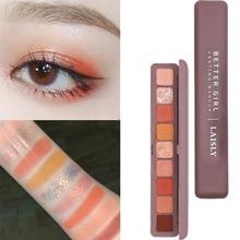 9 Colors Eyeshadow Palette Waterproof Long-Lasting Shadow Shimmer Pigmented Makeup