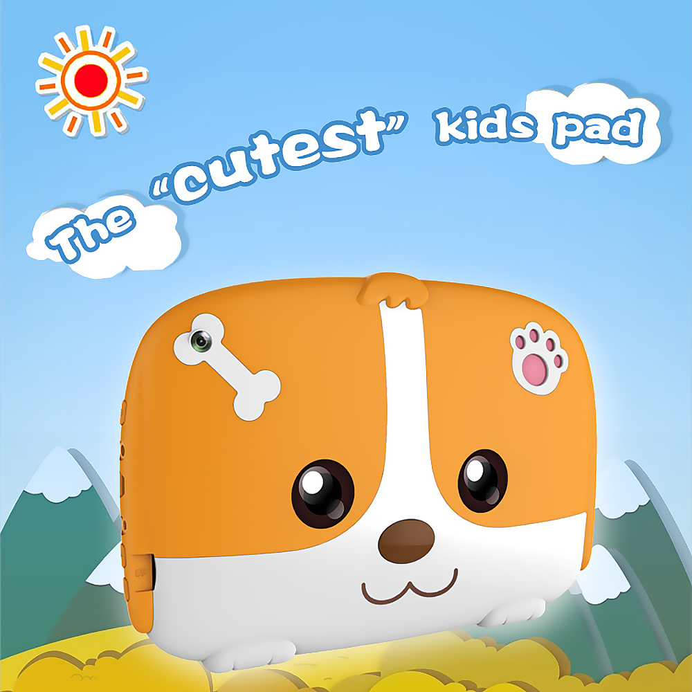 Q718 Quad Core 7inch Tablets PC Educational Computer 1024x600 HD Five-point Touch Screen For Children Kids Android 4.4