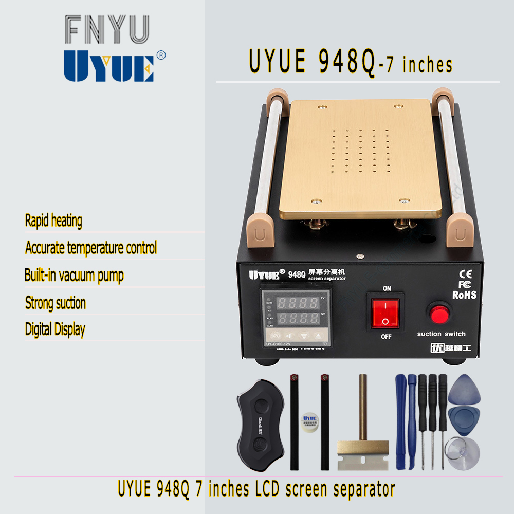 Separator UYUE 948Q Glass LCD screen built-in pump vacuum maximum 7 inch mobile phone disassembly and maintenance tools