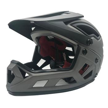 Casco de Ciclismo de cara completa XC Off-Casco de bicicleta de carretera,...