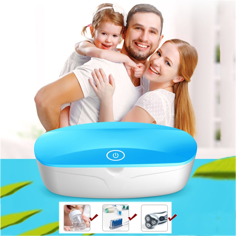 UV LED Sterilizer Box USB Charging Smart Disinfector Box For Home Tools Sterilizer Manicure Nail Tweezers Disinfector Box