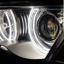 1 pair  White Crystal DTM Style LED Angel Eyes kits Halo Rings Light For BMW E36 E38 E39 E46 M3 E90 E91 Xenon Halogen Lens photograph crystal light crystal halo optical glass lens 1 4 screw for tripod holding vlog magic ball light accessory