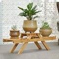 Multilayer Bambus Innen Halter Anlage Garten Tisch Im Freien Display Ständer Wohnzimmer Pflanzer Blume Regal Wohnkultur Topf Rack-in Pflanzenregale aus Möbel bei