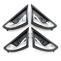 LARBLL 4PCS/lot Chrome Plating Front Rear Left Right Inner Interior Door Handle for JAC J3 J3S Turin 2009~2015 6105230U8010