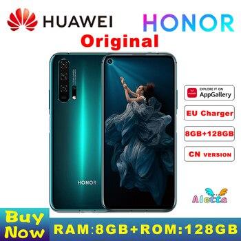 Перейти на Алиэкспресс и купить Оригинал, Huawei Honor 20 Pro 8 Гб оперативной памяти 128G ROM полноэкранном режиме камера AI Octa Core с функцией отпечатка пальца ID NFC android 9 мобильного телеф...