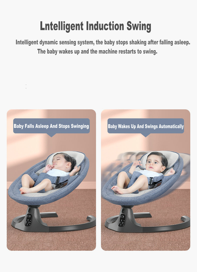 H506cad54fbc14769874c00cadbc6be61p Baby Swing Multifunctional Aluminum Alloy Baby Rocking Chair Electric Baby Cradle With Remote Control Cradle Rocking Chair