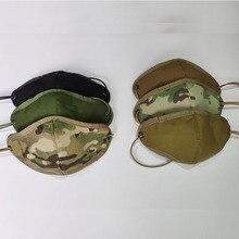 Multicam Mask Protective-Gear Half-Face-Mask Frabric Camouflage Cordura CS