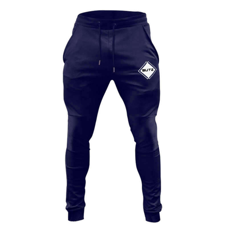 Casual Skinny Pants Mens Cotton Sporty Jogger Sweatpants Gyms Fitness Workout Trousers Autumn Male Sportswear Brand Track Pants
