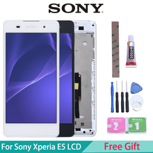 Original LCD For SONY Xperia E5 Display Touch Screen Digitizer Replacement For SONY Xperia E5 LCD F3311 F3313 suitable for original sony xperia z5 small lcd touch screen digitizer for sony z5 mini e5823 e5803 screen display with frame