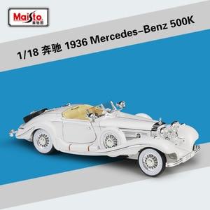 Image 5 - Maisto Diecast 1:18 Mercedes Benz AMG GT/SLS/500 K Sport Auto Metall Modell Auto Supercar Legierung Spielzeug für Kinder Geschenke Sammlung