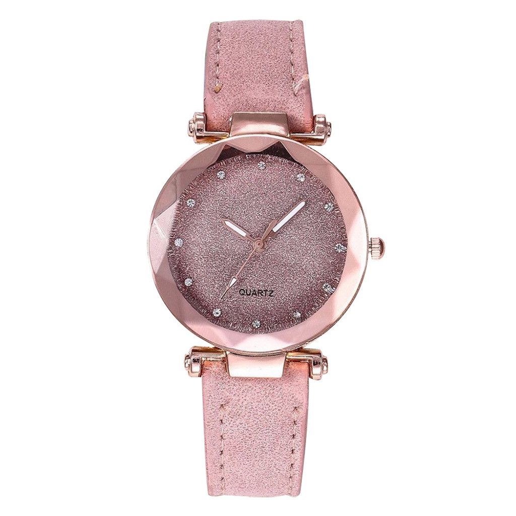 Ladies Women Watch Fashion Korean Rhinestone Rose Gold Quartz  Female Leather Belt Watches Reloj Inteligente Mujer Clock часы