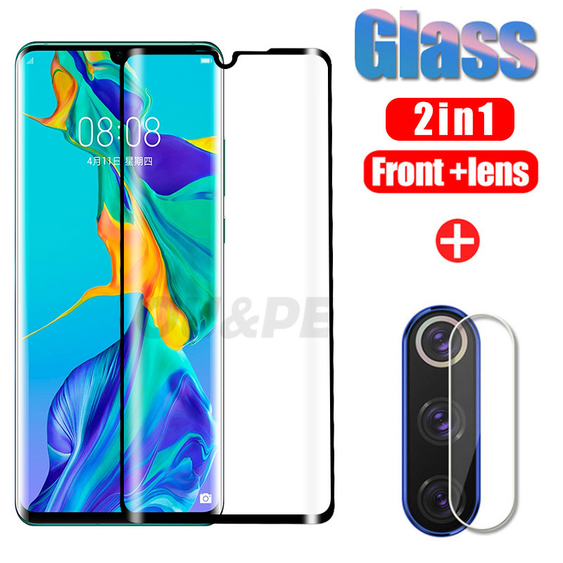 2in1 Protective Glass For Huawei P30 P20 Mate 20 30 Lite Pro Screen Protector Camera Lens Huawei P30 Pro P Smart Tempered Glass