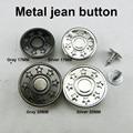 30 шт., декоративные круглые металлические пуговицы в виде джинсовой звезды