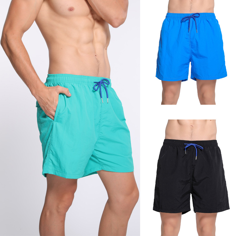 High Elastic Waterproof Beach Wear White Men's   Board     Shorts   Surfwear Male Solid Swim   Shorts   Summer Running Gym   Shorts   4XL