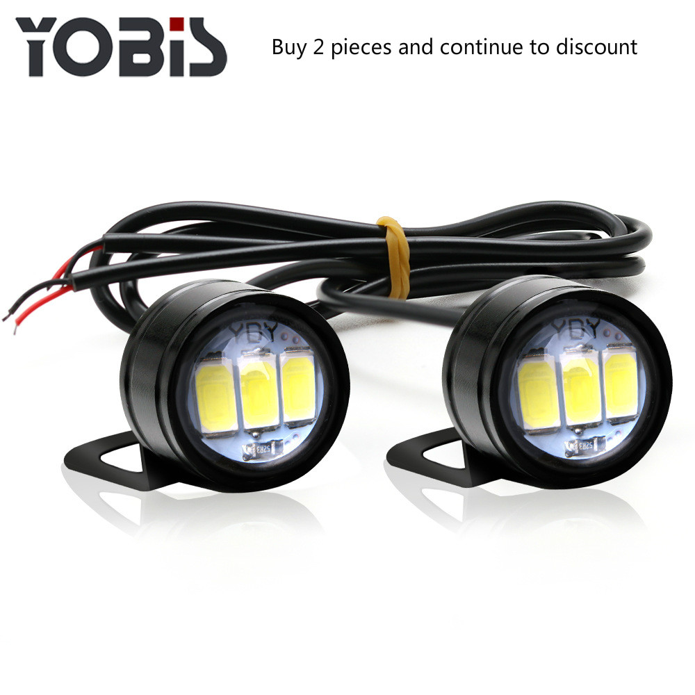 2PCS Motorcycle Hawk-Eye Lamp Ghost-Fire Lamp Modification Lamp Pedal Led Mirror Lamp Head-light Rogue Lamp Rearview Mirror Lamp