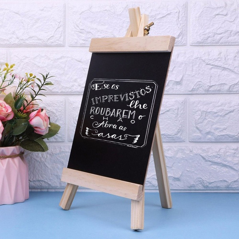 20*36cm Wood Blackboard Small Blackboard Magnetic Preschool Home Drawing Board Desktop Sketchpad Multifunctional WordPad