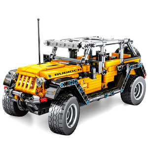 Image 2 - MMloveBB Creator Mechanical Pull Back Jeeped 오프로드 차량 모델 빌딩 블록 ing City Technic 자동차 벽돌 장난감 소년 용