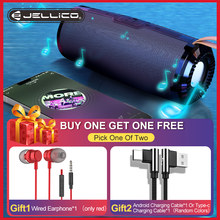 Jellico Portable Bluetooth Speaker Wireless Bass Column Waterproof Outdoor USB Speakers Support AUX TF Subwoofer Loudspeaker D2