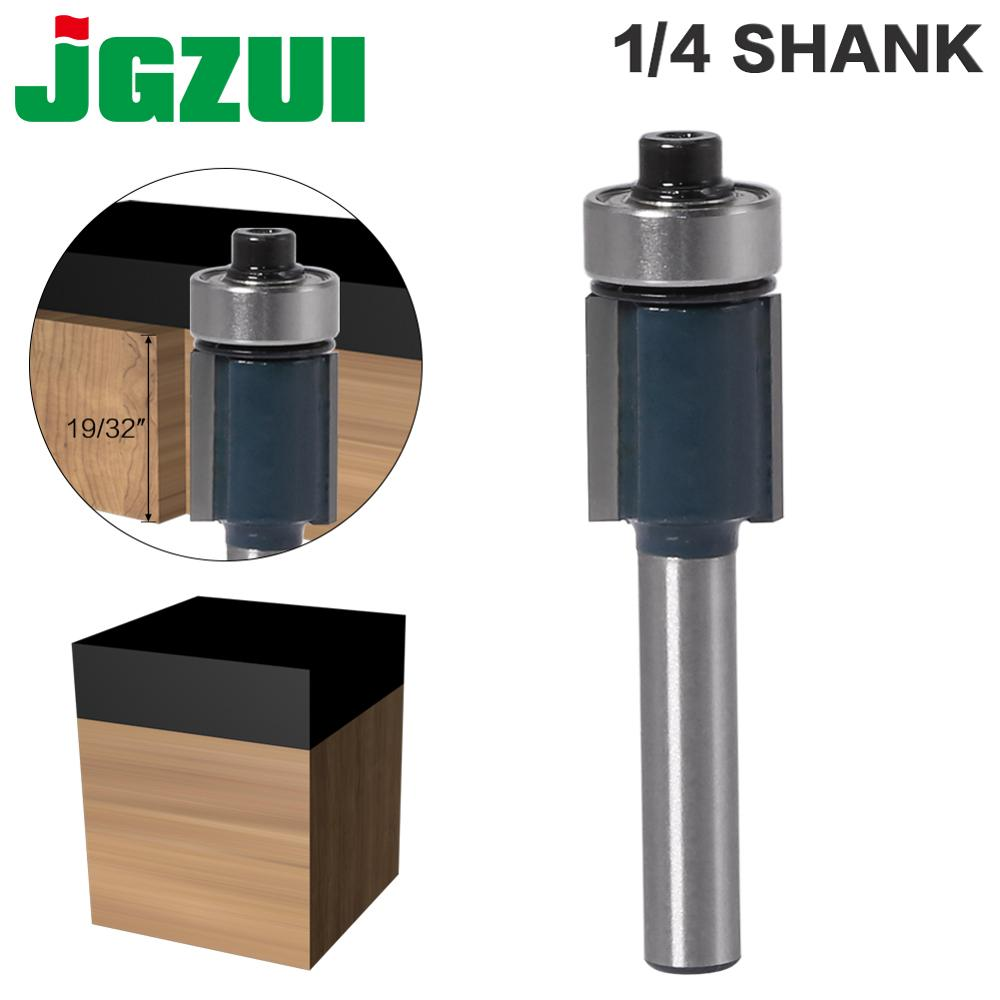1pc 1/4 Shank Trim Router Bit With Bearing For Wood Template Pattern Bit Tungsten Carbide Milling Cutter For Wood