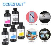 250ML 5 Bottiglie/Set di Inchiostri UV LED Per Epson 1390 L800 1400 1410 1430 1500W R290 R330 l800 L1800 Stampante UV Inchiostro Per Tutti I RAGGI UV Stampante