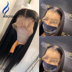 ALICROWN 13*6 Spitze Front Menschliches Haar Perücken 180% Dichte Brasilianische Nicht-Remy Spitze Front Perücken Für Frauen gebleichte Knoten Pre-Gezupft