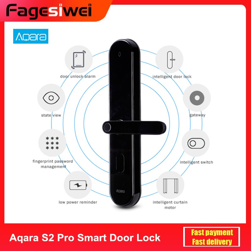 Aqara S2 Pro Smart Intelligent Door Lock Password Fingerprint Key Unlock APP Real-Time Monitor Privacy Lock Home Device image