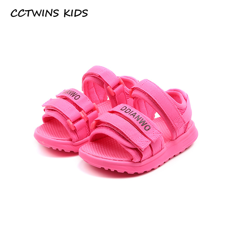 CCTWINS Kids Shoes 2020 Summer Toddlers Brand Casual Shoes Children Fashion Beach Sandals Baby Girls Black Flat Boys BS546