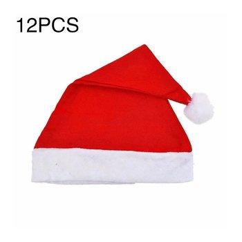 12pcs/1pcs Christmas Chair Back Decor Cover Non-woven Set Red Decoration