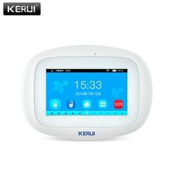 KERUI K52 WIFI GSM Alarm Systeme Panel 4,3 Zoll TFT Farbe Display Sicherheit Hause Smart Wohn Drahtlose Alarmanlage Host