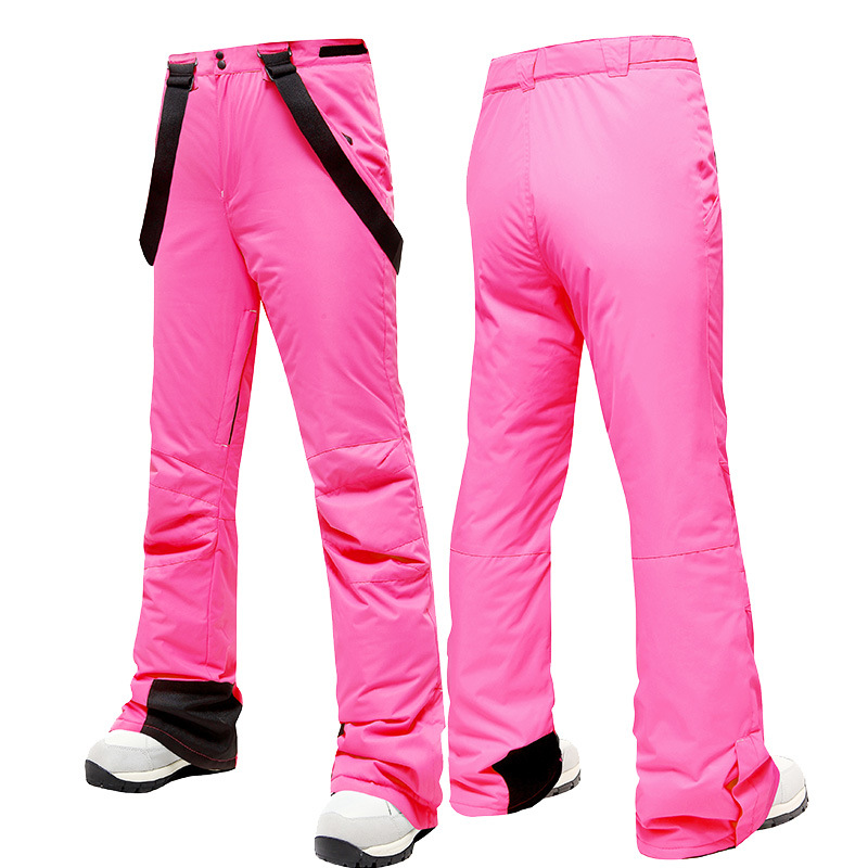 MUTUSNOW Men Women Couple Single And Double Board Ski Pants Outdoor Camping Skiing Snowing Waterproof Warm Thickened Trousers