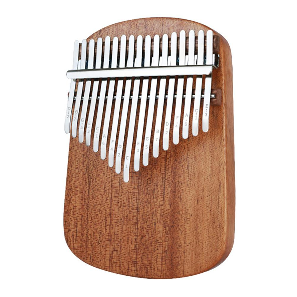 17 Keys Kalimba Thumb Piano Mahogany Spruce Panel Round Corner Classic Musical Instrument Wood Keyboard For Beginners Calimba