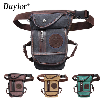Buylor Drop Leg Bag Vintage Thigh Pack Fanny Military Motorcycle Messenger Canvas/Nylon Cycle Shoulder Bag Riding Waist Pack carteras mujer bag steampunk thigh motor leg outlaw pack thigh holster protected purse shoulder backpack purse leather women bag