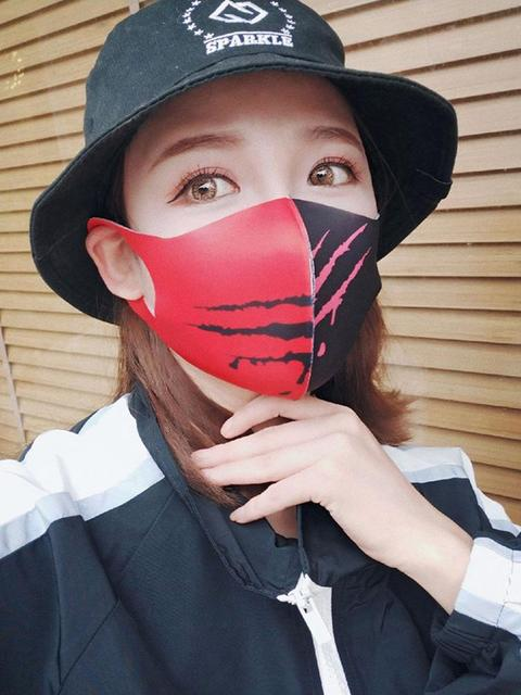 Painted Cotton Mouth Mask Anti Dust Fog Washable Breathable Personalized Mouth-Muffle Bacteria Proof Flu Face Masks For Riding 3