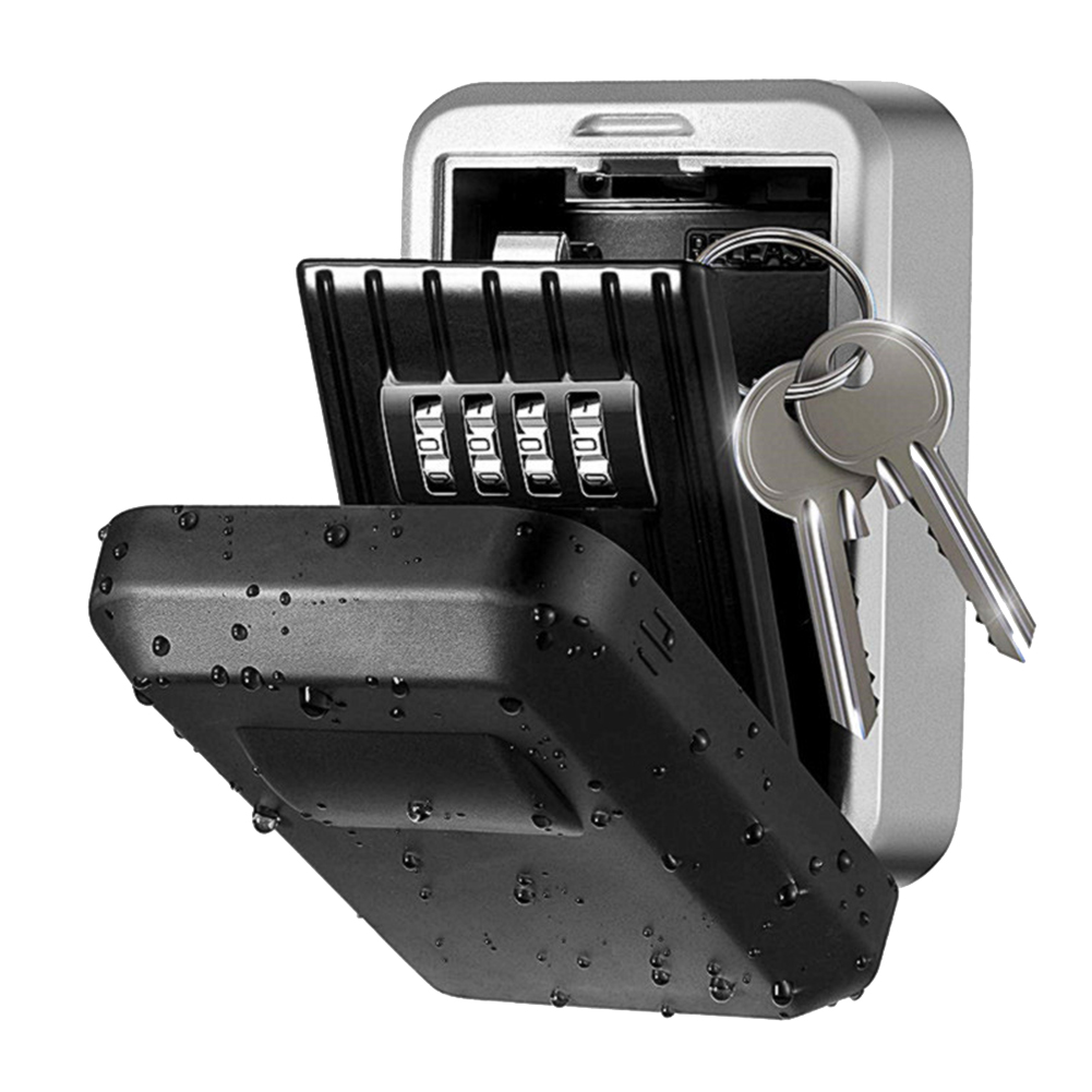 Wall Mounted/Padlock 4-Digit Combination Key Lock Storage Safe Security Box Home Office